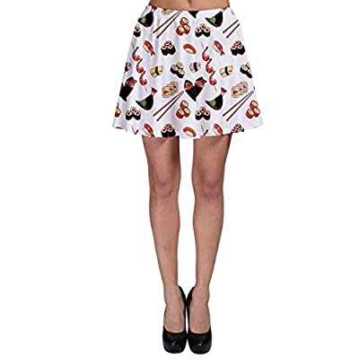 CowCow Colorful Pattern with Japanese Food Skater Skirt