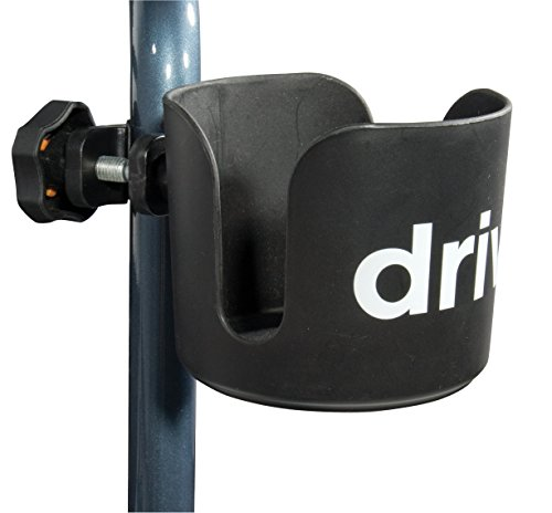 Drive Medical Universal Cup Holder, Black (Carex Canvas Walker Basket)