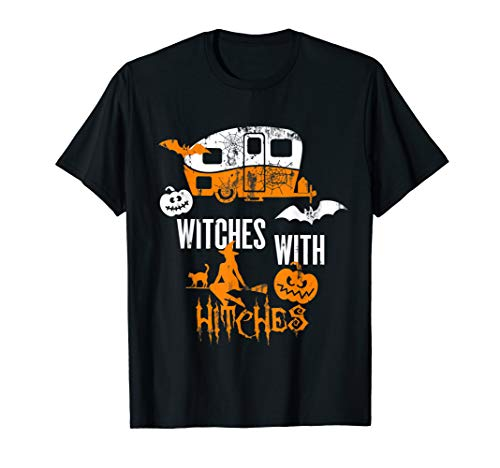Witches With Hitches Funny Camping Halloween Vintage Gift -