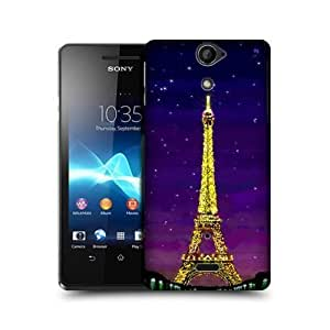 Eiffel Lights Digital Painting Collection Case For Sony Xperia V Lt25i