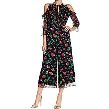c99e14dc64b Amazon.com  Rachel Zoe Women s Beth Floral Print Jumpsuit Silk Black ...