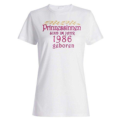 Prinzessinnen sind im jahr 1986 geboren Damen T-shirt cc12f