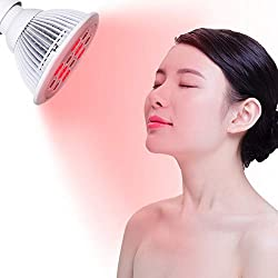 SGROW 24W Red Led Light Red 660nm and Near Infrared 850nm Led Light Therapy Bulbs for Skin and Pain Relief- FDA Cleared
