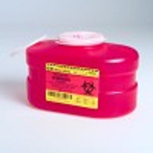 B-D Multi-Use One-Piece Sharps Containers - Regular Funnel Vented Cap, 3.3 Quart - Model 305488 by B-D (Image #1)