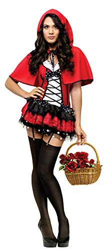 Hot Riding Hood Little Red Costume (Red Hot Riding Hood Adult Costume)