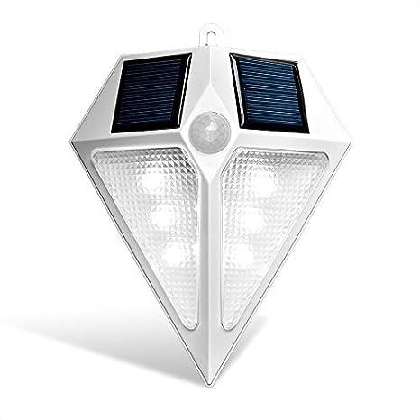 H&G Lámpara Solar LED para Entrada, Foco Solar de Pared Impermeable con Sensor de Movimiento