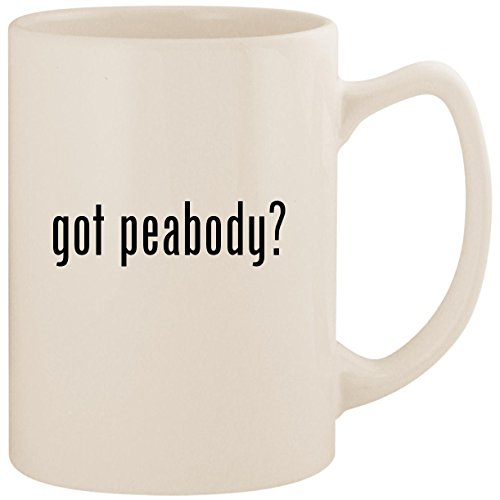 (got peabody? - White 14oz Ceramic Statesman Coffee Mug)