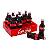 IROCH 1:12 Miniature Dollhouse Cola Coke Bottles Soda Soft Drinks Beverage Scenario Model 12pcs