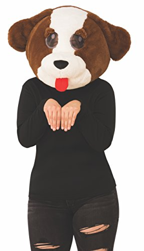 Clever Cute Halloween Costumes (Rubie's Unisex-Adults Plush Character Mask, Dog,)