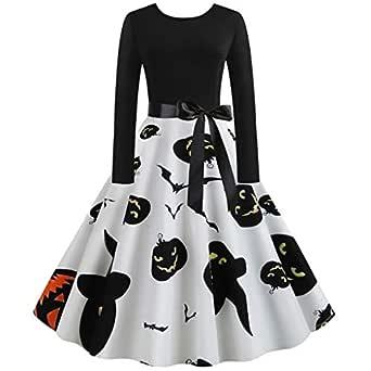 Vestido para Mujer + Cinturón Halloween Vestir Ropa Elegantes Dama ...