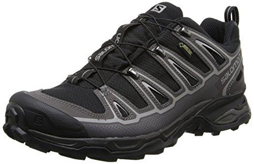 Salomon Men's X Ultra 2 GTX Hiking Shoe, Black/Autobahn/Aluminum, 7 M US by Salomon