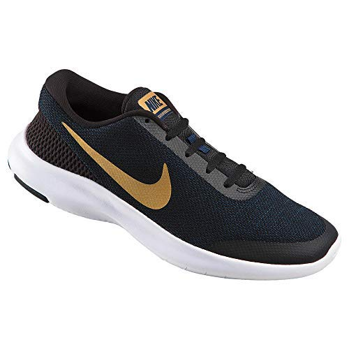 Gold Obsidian (NIKE Women's Flex Experience RN 7 Running Shoe Black/Metallic Gold/Obsidian/White Size 7 M US❗️Ships directly from Nike❗️)