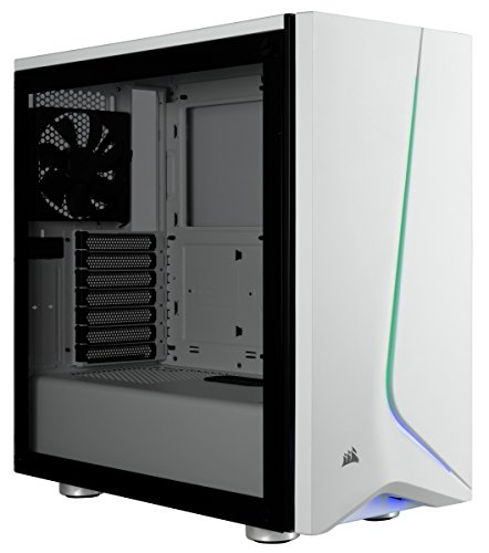 CORSAIR CARBIDE SPEC-06 RGB Mid-Tower Gaming Case, Tempered Glass- White