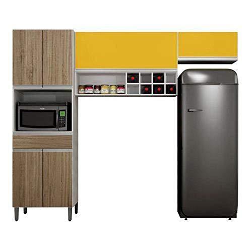 Cozinha Compacta 3 Peças Carrara Br/ Cst Argel Ma. Sallêto