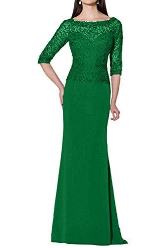 mia La Spitze Attraktive Neu Etuikleider Abendkleider Festlichkleider Langarm Brautmutterkleider Promkleider Grün Braut 6UwSwFx