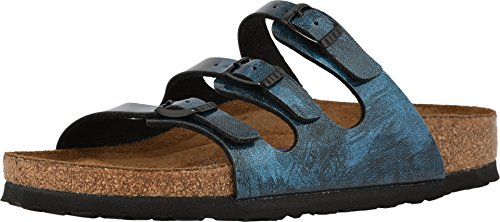 Birkenstock Women's Florida Fresh Soft Footbed Milky Way Blue Birko-Flor Sandal 40 (US Women's 9-9.5)