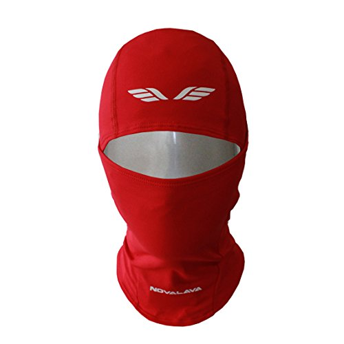 [NovaLava] Thin Multi Functional (Full or Half) Balaclava Sports Face Mask Red