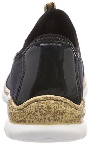Rieker Vrouwen N4263 Sneaker Blauw (pacific / Pacific / Navy / Zwart)
