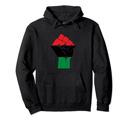 Unisex Afro-American Fist salute African Heritage Symbol Hoodie 2XL Black