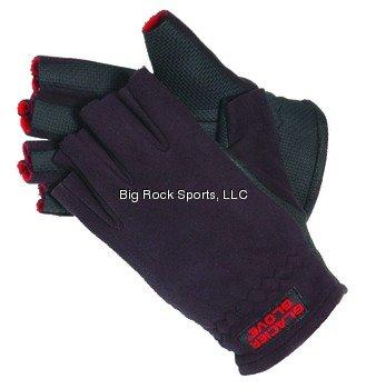 Glacier Glove Alaska River Fleece Fingerless Fishing Glove (Black, Medium), Outdoor Stuffs