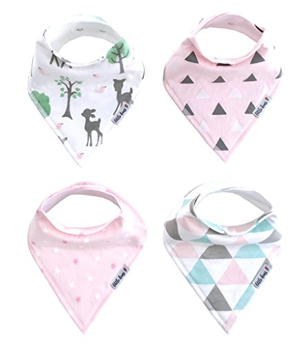 Organic Baby Bandana Drool Bibs for Girls, 4 Pack - Enchanted Forest (Enchanted Scarf)