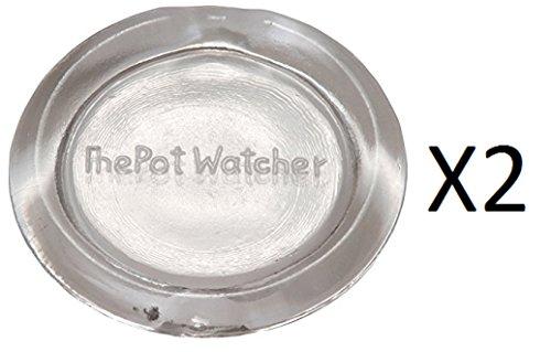 Fox Run Heat-Resistant Boil Alert The Pot Watcher Tempered Glass Disc (2-Pack)