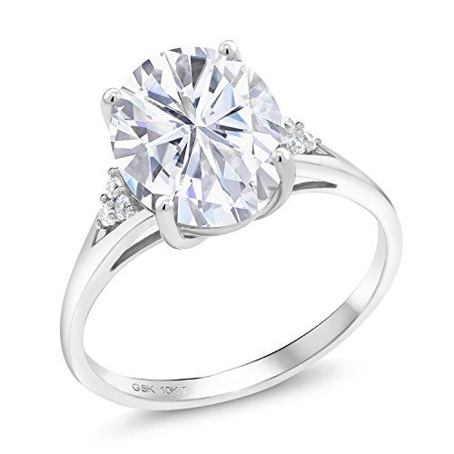 10K White Gold Solitaire w/Acc