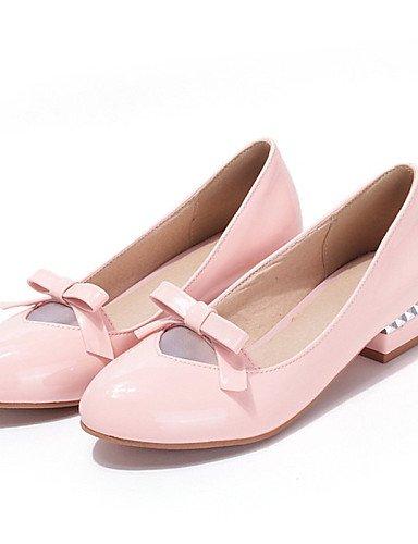 ZQ Zapatos de mujer - Tacón Bajo - Tacones - Mocasines - Oficina y Trabajo / Vestido / Casual - Cuero Patentado - Negro / Rosa / Beige , pink-us9.5-10 / eu41 / uk7.5-8 / cn42 , pink-us9.5-10 / eu41 / green-us8 / eu39 / uk6 / cn39