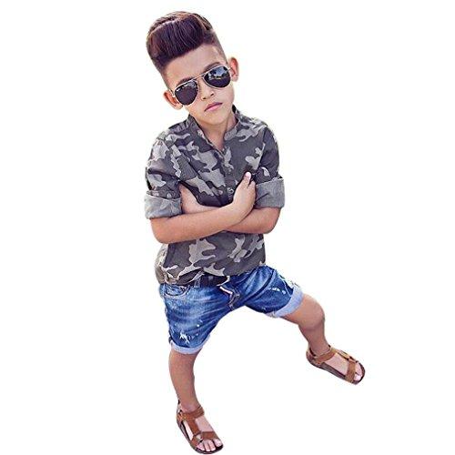 Gotd Kids Toddler Boys Handsome Camouflage T-shirt Tops +...