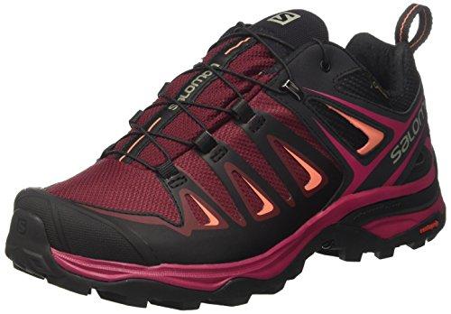 Salomon Ultra 3 GTX, Zapatos de Low Rise Senderismo Para Mujer Multicolor (Tawny Port/black/livi)