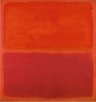3 by mark rothko abstract warm colors red poster choose size of