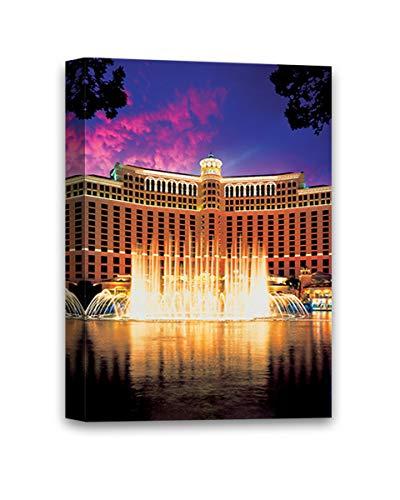 "Funny Ugly Christmas Sweater Bellagio Hotel Luxury Photo Print Las Vegas Canvas Decor Las Vegas Souvenirs American Canvas Decor Ideas Bellagio Casino Canvas Wall Art 8"" x 12"""