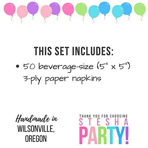 50ct Boy Baby Shower 1st 2nd Birthday Party Supplies Stesha Party Blue Beverage Napkins