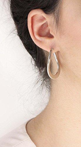 Carissima Gold - Boucles d'oreilles créoles - Femme - Or blanc (9 carats) 2.8 Gr