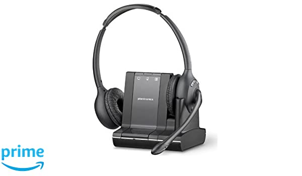 Plantronics Savi W720 Binaural Diadema Negro auricular con micrófono - Auriculares con micrófono (Centro de llamadas/Oficina, Binaural, Diadema, Negro, ...