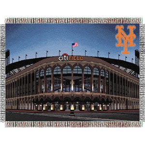 Mlb Woven Tapestry Throw - MLB New York Mets Stadium Woven Tapestry Throw, 48