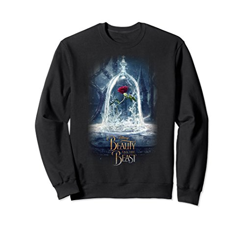 Unisex Disney Beauty And The Beast Epic Glass Rose Sweatshirt 2XL - Sweatshirt T-shirt Beauty