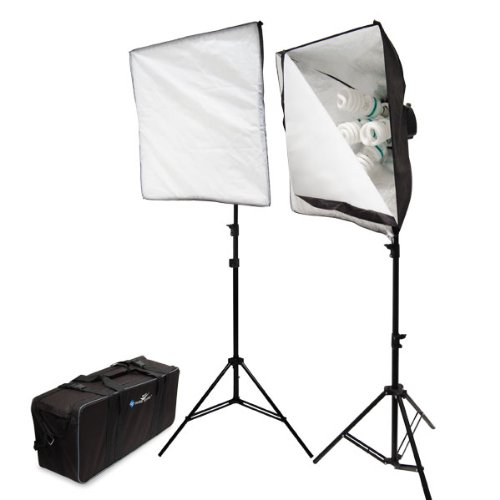 2000W Digital Photography Studio Softbox Lighting Kit Light Set + Carrying Case by Limo Pro Studio by LimoStudio