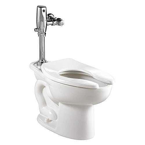 American Standard 3461.528.020 Madera ADA Universal Floor Mount Toilet Bowl with Everclean and 1.28 Gpf Selectronic Flush Valve
