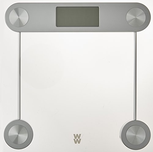 Weight Watchers by Conair Digital Glass Bathroom Scale; 400 lb. capacity; Elegant Gold Finish Bath Scale