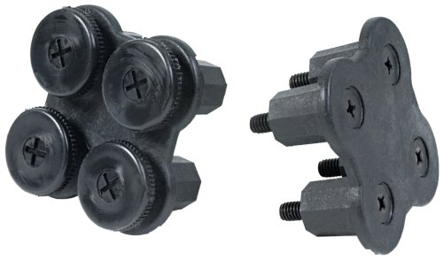 HON PB4P Simplicity II Systems Cross Connector for Partition Panels, Black, Two per Pack