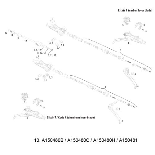 Avid–Sargento de barra (discretos) XX World Cup (Ti perno T25) negro, 11.5315.048.100–2piezas