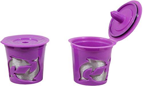 2 Pack Purple Coffee Filter for Keurig® 2.0 & 1.0 ★ Basket Reusable K-Cup Count for Keurig® K-Cup Brewer K300 K400 K500 K75 K45 B60 B70 B130 K40 B40 K60 B145 B150 B140 K150 K70 B30 K145 K155 B155 B44 B200 B3000 Series lieu of Ecobrew Solofil (B3000 Series)