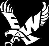 ANGDEST Eagles Eastern Washington University (WHITE) (set of 2) Premium Waterproof Vinyl Decal Stickers Laptop Phone Accessory Helmet Car Window Bumper Mug Tuber Cup Door Wall Decoration
