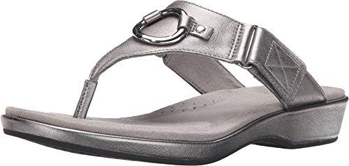 ARIAT Women's Poolside Thong Sandal,Warm Stone Full Grain Leather,US 11 B ()