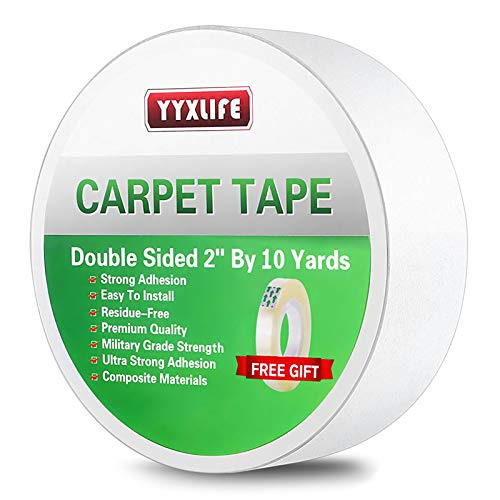 Yyxlife Double Sided Carpet Tape For Area Rugs Carpet