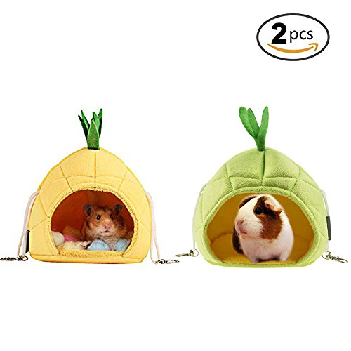 STAR-TOP Pineapple Hamster Bed, House Hammock Small Animal Bed House Cage Nest Hamster Accessories for Sugar Glider Hamster Small Bird Pet