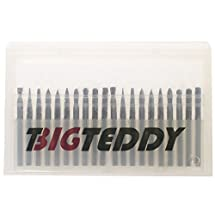 "BIGTEDDY - 20pcs Tungsten Single / Double Cut Head Carbide Rotary Burr Set 1/8"" Shank Fit Dremel Tool for Woodworking Drilling Carving Engraving"