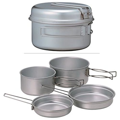 Snow Peak Multi Compact 4 Piece Titanium Cook Set (Multi Compact Cookset)