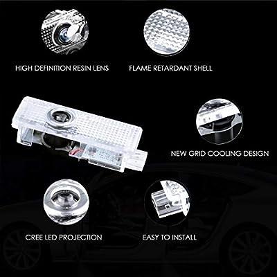 4Pcs LED Car Logo Lights Ghost Light Door Light Projector Welcome Accessories Emblem Lamp For BMW M Compatibl (BMW+M): Automotive